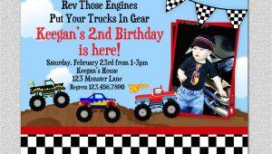 Monster Truck Birthday Invitations Party City Monster Truck Birthday Party Invitations Various