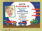 Monster Truck Party Invitations Free Monster Truck Birthday Invitations Ideas Bagvania Free