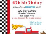 Monster Truck Party Invitations Free Monster Truck Invitation You Print by Pretty Party