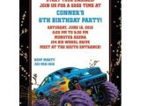 Monster Truck Party Invitations Free Monster Truck Personalized Invitation Each wholesale