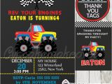 Monster Truck Party Invitations Free Red Monster Truck Party Ticket Invitations Personalized