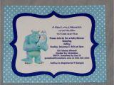 Monsters Inc Baby Shower Invites Items Similar to Monster S Inc Baby Shower Invitations