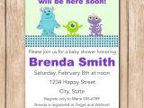 Monsters Inc Baby Shower Invites Mini Monsters Inc Baby Shower Invitation by