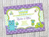 Monsters Inc Baby Shower Invites Monsters Inc Inspired Baby Shower Invitation 4×6 by