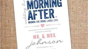 Morning Wedding Invitations the Morning after Wedding Brunch Invitation 5 by