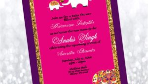 Moroccan Baby Shower Invitations Moroccan themed Baby Shower Invitation