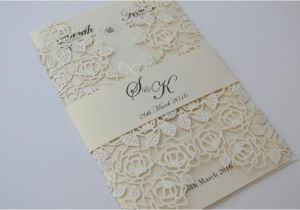 Most Beautiful Wedding Invitation Cards Laser Cut Wedding Invitations Ivory Laser Cut Wedding