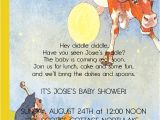 Mother Goose Baby Shower Invitations Items Similar to Classic Mother Goose Baby Shower