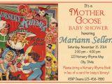 Mother Goose Baby Shower Invitations Vintage Nursery Rhyme Mother Goose Baby Shower by