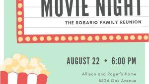 Movie Night Party Invitation Template Free Customize 646 Movie Night Invitation Templates Online Canva