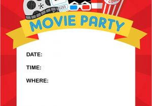 Movie Party Invitations Free Printable How to Throw A Fun Backyard Movie Party