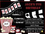 Movie Party Invitations Free Printable Movie Birthday Invitation Movie Night Party Invitations
