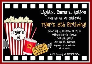Movie Party Invitations Free Printable Movie Birthday Invitations Movie Night Birthday Party