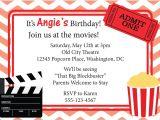 Movie Party Invitations Free Printable Movie Invitation Printable Google Search