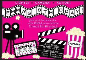 Movie Party Invitations Free Printable Movie Invitations Template Resume Builder