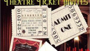 Movie theater Wedding Invitations Unique Movie Star Hollywood theatre Cinema Ticket Wedding