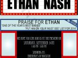 Movie themed Baby Shower Invitations Ing soon Baby Shower Invitation Marquee Hollywood