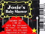 Movie themed Baby Shower Invitations Movie Ticket Red Carpet Baby Shower Party by Mis2manos On