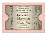 Movie themed Baby Shower Invitations Silver Ticket Style New Baby Shower Party Invite