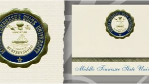 Mtsu Graduation Invitations Middle Tennessee State University Graduation Announcements