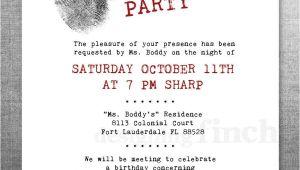 Murder Mystery Birthday Party Invitations Clue Birthday Invitation Murder Mystery Party Customizable