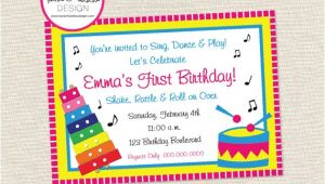 Music themed Birthday Party Invitations Free Printable Music themed Birthday Party Invitations
