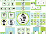 Mustache Birthday Party Printables Free Little Man Mustache Set Extras Little Man Mustache
