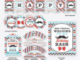 Mustache Birthday Party Printables Instant Download Mustache Party Package Mustache