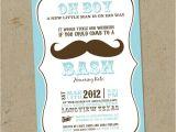 Mustache Invitations for Baby Shower Mustache Bash Baby Shower Invitations Digital U Print