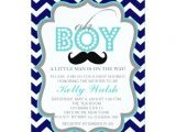 Mustache Invitations for Baby Shower Oh Boy Chevron Mustache Baby Shower Invitation