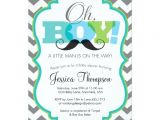 Mustache Invitations for Baby Shower Oh Boy Mustache Baby Shower Invitation