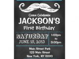 """Mustache Invitations for First Birthday Chalkboard Mustache First Birthday Invitation 5"""" X 7"""