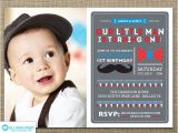 Mustache Invitations for First Birthday Items Similar to Mustache Invitation Little Man Birthday