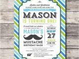 Mustache Invitations for First Birthday Printable Little Man Mustache Bash Invitation Birthday
