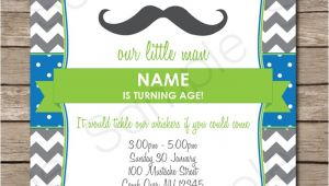 Mustache Party Invitation Template Mustache Party Invitations Little Man Party