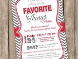 My Favorite Things Party Invitation Wording A Few Of My Favorite Things Chevron Invitation Printable