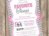 My Favorite Things Party Invitation Wording Unavailable Listing On Etsy