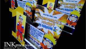 Naruto Birthday Invitation Naruto Inkpressive Invitations