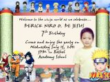 Naruto Birthday Invitation Template Naruto Birthday Invitation Best Party Ideas