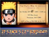 Naruto Birthday Invitation Template Naruto Birthday Invitations