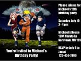 Naruto Birthday Invitation Template Naruto Invitations 2 Personalized Party Invites