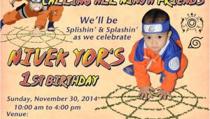 Naruto theme Birthday Invitation Naruto Birthday Party Invitation Card Photoshop Project
