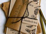 Natural Paper Wedding Invitations Wedding Emergency Kits by Mojuba A Down to Earth Wedding
