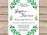 Nature themed Birthday Party Invitations Botanical Bridal Shower Invitation Spring Bridal Shower
