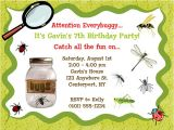 Nature themed Birthday Party Invitations Bugs Insects Nature Birthday Party Invitations Bugs