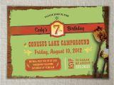 Nature themed Birthday Party Invitations Nature Birthday Party Invitations