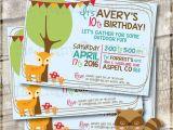 Nature themed Birthday Party Invitations Nature themed Birthday Party Printable Birthday Invitation