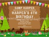 Nature themed Birthday Party Invitations Woodland themed Birthday Party Ideas Dimple Prints