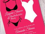 Naughty Bridal Shower Invitations Lingerie Party Bachelorette Invites Wedding