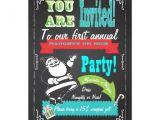 Naughty or Nice Party Invitations Blackboard Naughty or Nice Christmas Party Invites